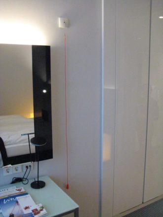 Emergency call – wheelchair accessible Design Hotel Berlin City East