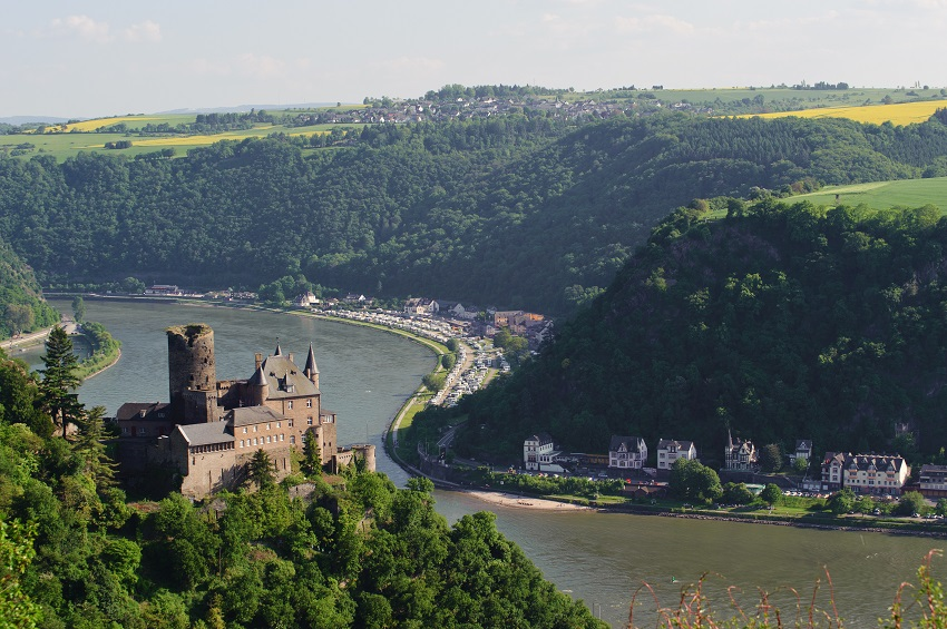 So called castle Katz in Germany at the Rhine